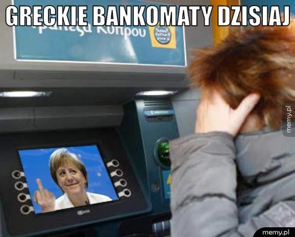 Greckie bankomaty.