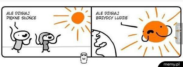 Słońce vs ludzie
