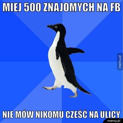miej 500 znajomych na fb nie mów nikomu cześć na ulicy