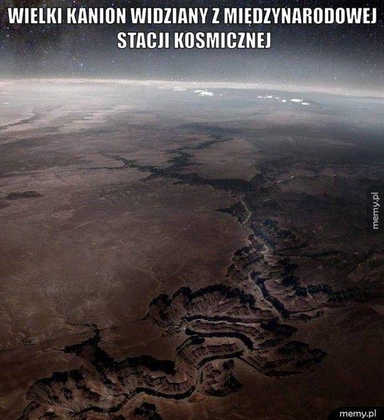 Wielki Kanion widziany z Międzynarodowej Stacji Kosmicznej