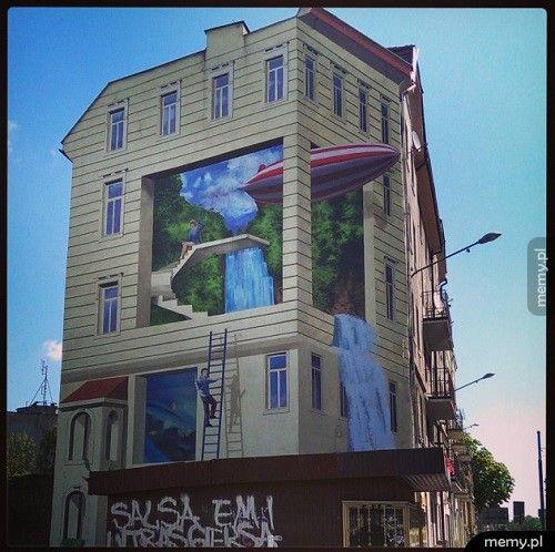 Mural w Katowicach