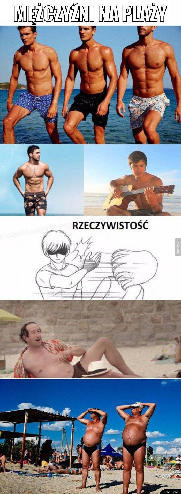 Mężczyźni na plaży