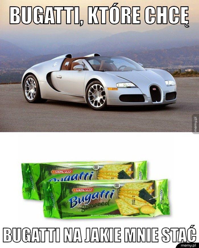 Bugatti, które chcę Bugatti na jakie mnie stać