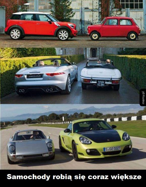 Samochody kiedyś i dziś