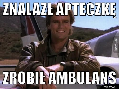 Znalazł apteczkę Zrobił ambulans