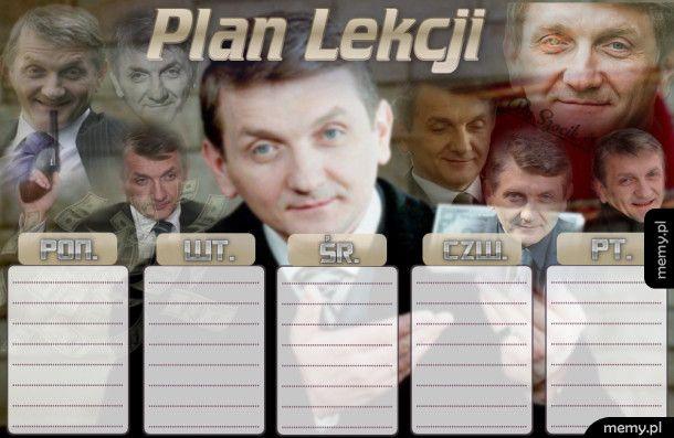 Janusz Tracz Plan Lekcji