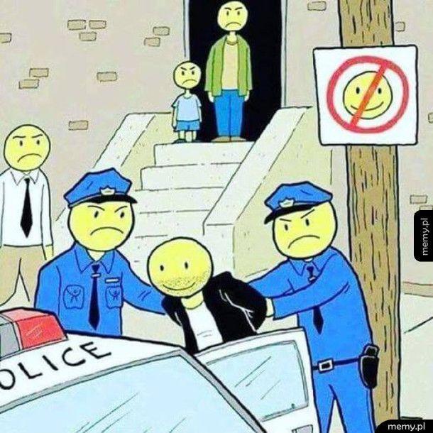 Zakaz śmieszkowania