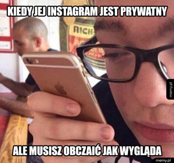 Kiedy jej instagram jest prywatny