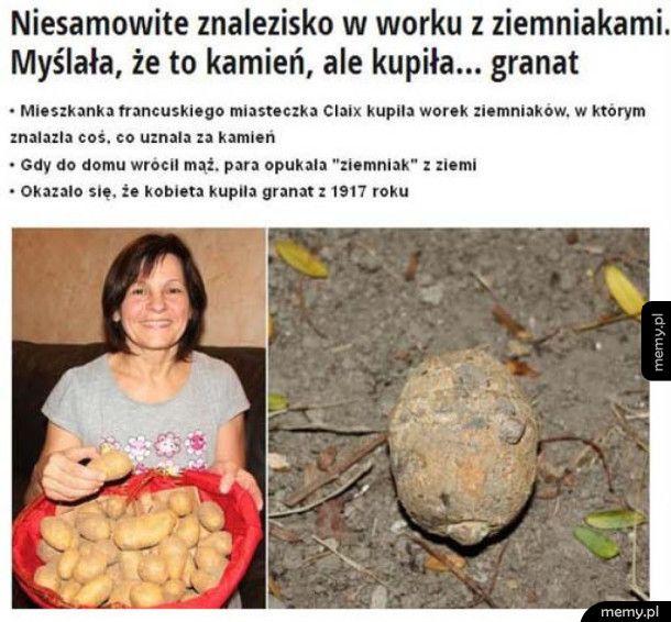Bardzo nietypowy ziemniak