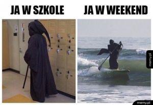 Różnica między szkoła, a weekendem