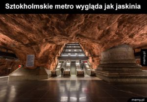 Sztokholmskie metro wygląda super
