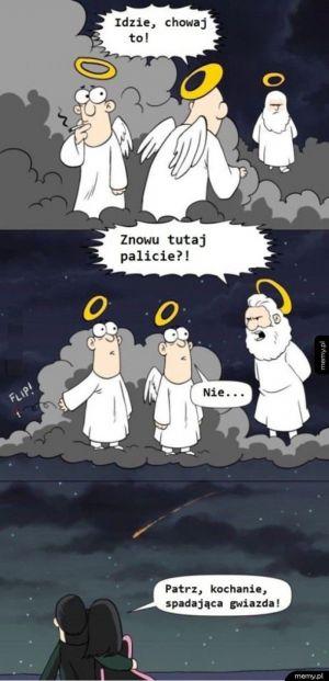 Co się dzieje, kiedy w niebie palą papierosy