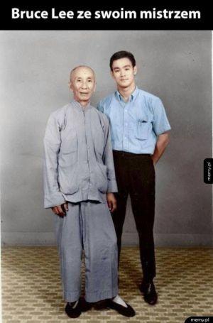 Bruce Lee z mistrzem