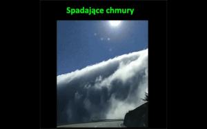 Spadające chmury