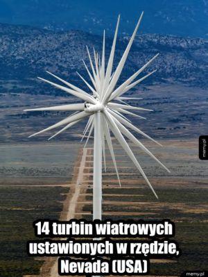 Nice - 14 turbin wiatrowych