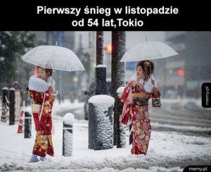 Pierwszy śnieg w Tokio