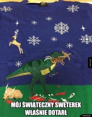 Mój świąteczny sweterek