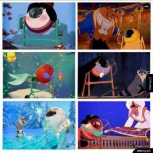 Księżniczki Disneya jako betoniarki