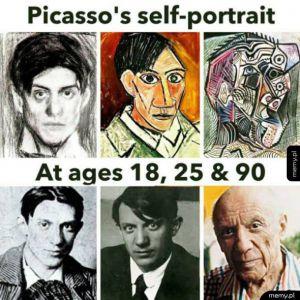 Picasso selfie portret
