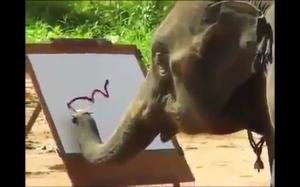 Ten słoń maluje lepiej niż ja
