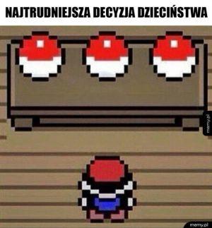 Wybór pierwszego Pokemona