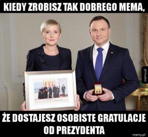 Gratulacje od prezydenta