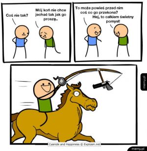 Mój koń nie chce jechać