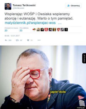 Terlikowski znowu zaorał
