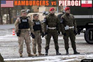 Hamburgery VS pierogi