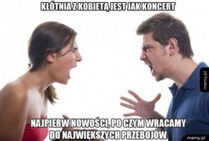 Kłótnia z kobietą