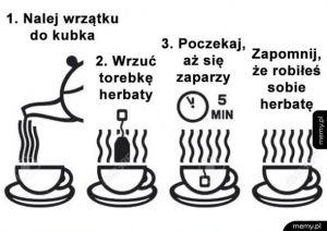 Proces parzenia herbaty