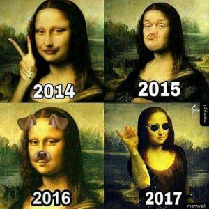 Mona Lisa zmienia się z roku na rok
