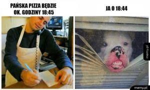 Kiedy czekasz na pizze