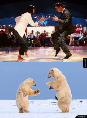 Mia Wallace i Vincent Vega w świecie zwierząt