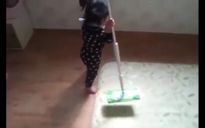 Sprzątanie to jej pasja