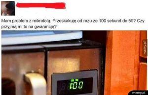 Problem z mikrofalówką