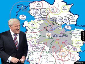 Analiza strategii PIS przed wyborami w Warszawie