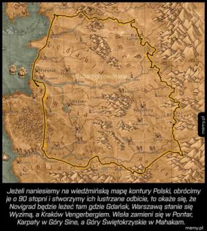 Mapa Polski w Wiedzminie 3