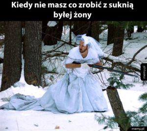 Piękna suknia była