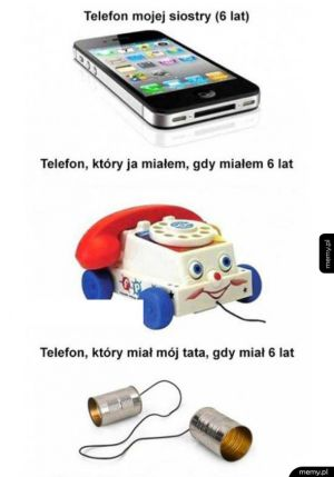 Każde pokolenie miało swój telefon