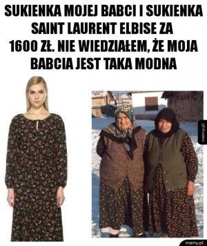 Babcia wie, jak modnie się ubrać