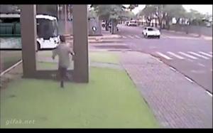 Śpieszył się na autobus