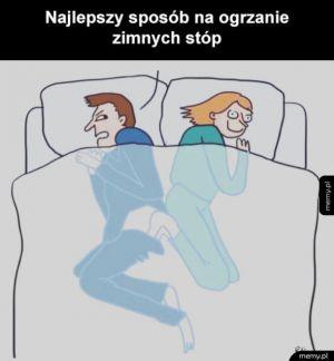 Spanie z laską