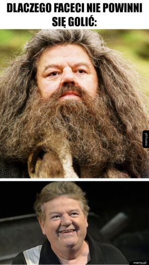 Hagrid bez brody