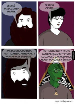 Jesteś jaszczurem Harry