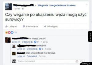 W skupisku wegetarian...
