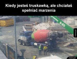 Truskawka betoniarka