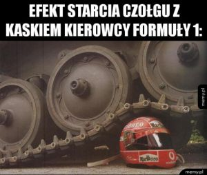 Czołg vs. kask kierowcy Formuły 1