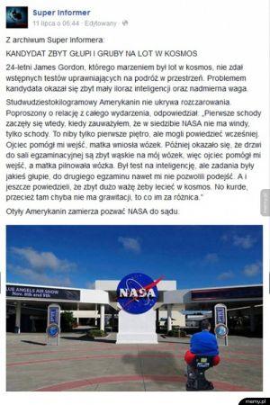 Grubas kontra NASA
