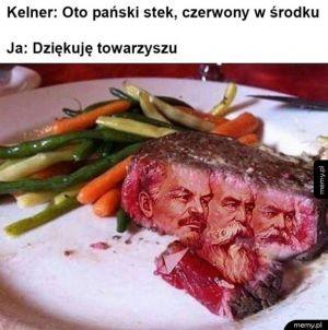 Najbardziej czerwony stek jak się da